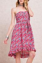 Easel Strapless Floral Dress
