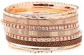 Charlotte Russe Embellished Stackable Bangle Bracelet - 9 Pack