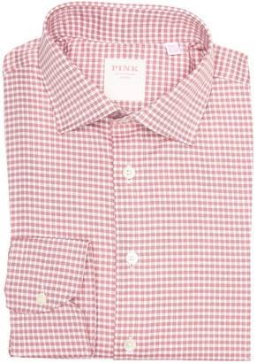 Thomas Pink Journey Check Print Long Sleeve Tailored Fit Shirt