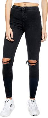 Topshop Washed Ripped Joni Jeans 32-Inch Leg