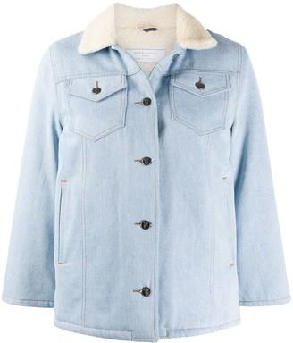 Societe Anonyme Contrast-Collar Denim Jacket