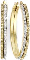 JCPenney FINE JEWELRY Diamond Fascination 14K Two-Tone Gold Double Oval Hoop Earrings