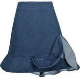 J.W.Anderson Ruffled Denim Mini Skirt