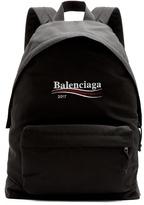 Balenciaga Logo-embroidered Canvas Backpack