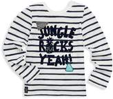Catimini Little Girl's Jungle Rocks Yeah Long-Sleeve Cotton Tee