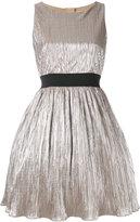 Manoush pleated metallic dress - women - Cotton/Nylon/Polyester - 34