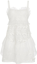 Giamba White Tiered Peplum Dress