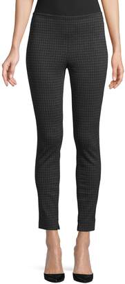 Theory Houndstooth Ankle Leggings