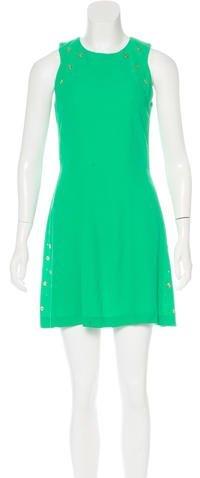 Sandro Grommet-Embellished A-Line Dress