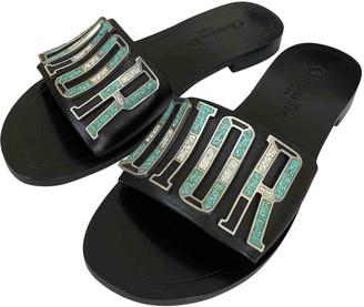 Christian Dior Dio(r)evolution Black Leather Sandals