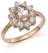 Bloomingdale's Morganite and Diamond Ring in 14K Rose Gold - 100% Exclusive