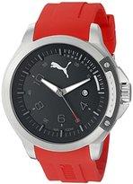 Puma Unisex PU104011003 Pioneer silver black with Analog Display Watch