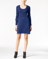 NY Collection Petite Ribbed Sweater Dress