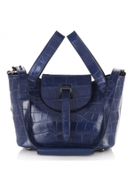 Meli-Melo Thela Mini Bag In Midnight Blue Croc