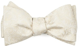 Tie Bar Ceremony Paisley Light Champagne Bow Tie