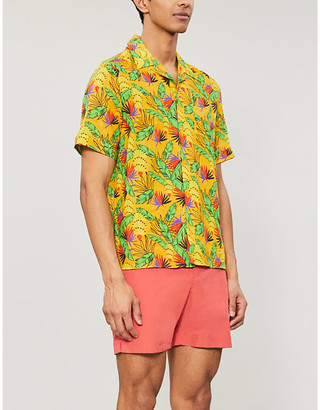 Vilebrequin Graphic-print cotton and linen-blend shirt