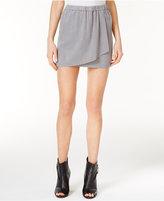 Kensie Faux-Suede Wrap Skirt