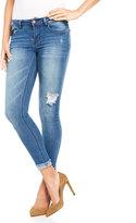 Kensie Destroyed Cuffed Skinny Jeans