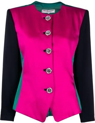 Saint Laurent Pre-Owned 1980s round neck jacket