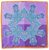 Daniel Cremieux 4-Square Paisley Silk Pocket Square