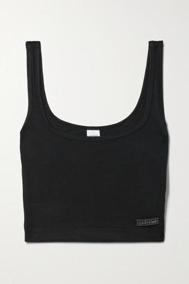 Calvin Klein Underwear - Cropped Stretch-modal Jersey Tank - Black