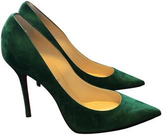 Christian Louboutin So Kate Green Suede Heels