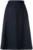 A.P.C. striped A-line skirt