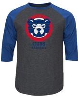 Chicago Cubs Men's 3/4 Sleeve Raglan T-Shirt