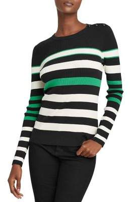 Lauren Ralph Lauren Striped Cotton-Blend Sweater