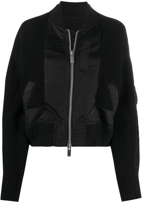Sacai Ribbed Panel Bomber Jacket