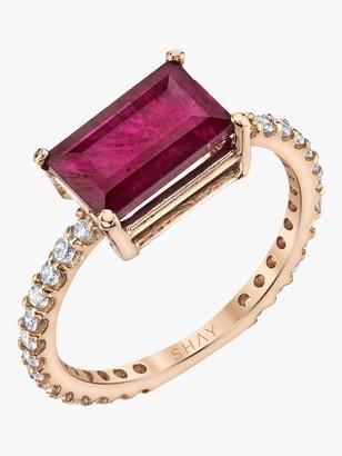 Shay Jewelry Ruby Emerald Cut Ring