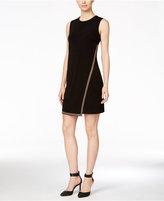 Calvin Klein Embellished Faux-Wrap Dress