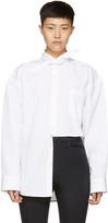Balenciaga White Poplin Scarf Shirt
