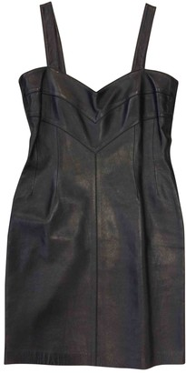 Loewe Black Leather Dresses