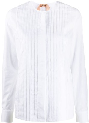 No.21 pleated front blouse