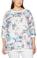 Ulla Popken Women's Bedrucktes Lang Sweatshirt