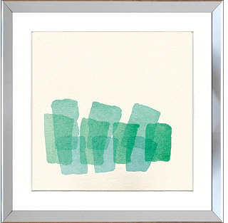 STUDY Teal Watercolor Print
