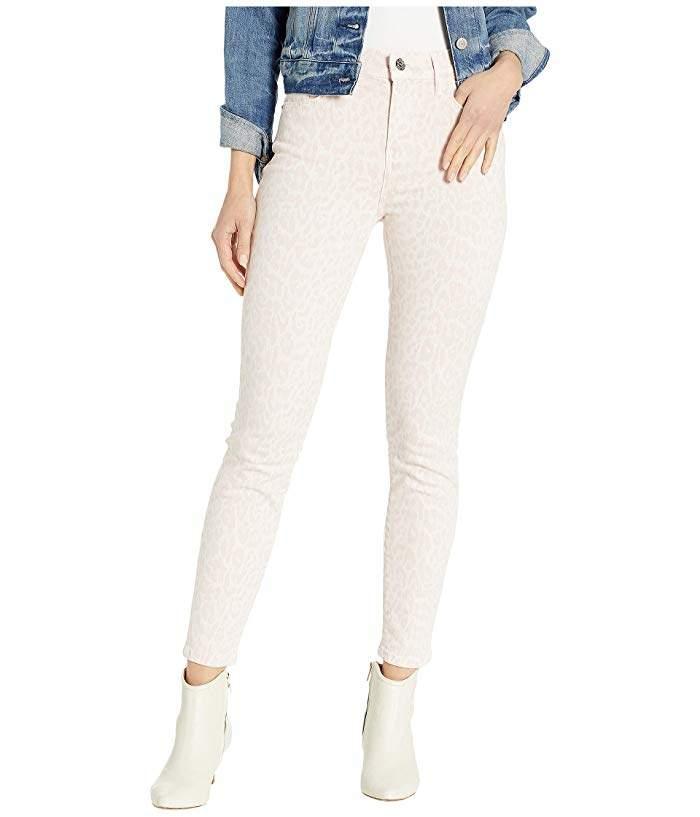 Current/Elliott The High-Waist Stiletto Jeans in Leopard Rose