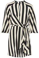 Topshop Humbug stripe knot front shift dress