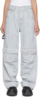 Eytys Indigo and White Striped Titan Max Jeans