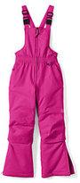 Lands' End Toddler Girls Squall Snow Bibs-Deep Pink