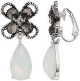 Dana Buchman Flower Teardrop Nickel Free Clip On Earrings