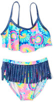 Flapdoodles Girls 4-6x) Two-Piece Tie-Dye Flounce Bikini