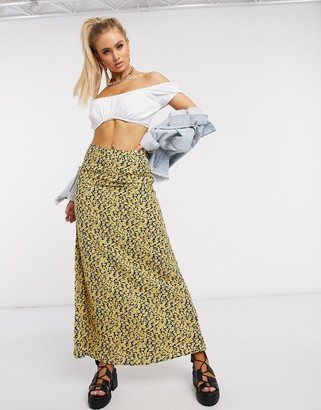 Motel maxi skirt in ditsy floral print