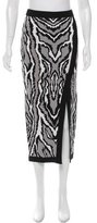 Torn By Ronny Kobo Abstract Print Midi Skirt