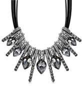 Epinki Women Stainless Steel Necklace Cubic Zirconia Teardrop Statement Necklace Pendant 50Cm