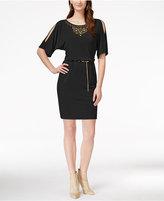 Thalia Sodi Studded Blouson Knit Dress