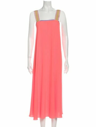 Roksanda Square Neckline Long Dress Orange