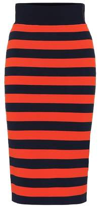 Veronica Beard Baker striped stretch knit skirt