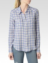 Paige Mya Shirt - Cornflower/ Grey Windsor Plaid